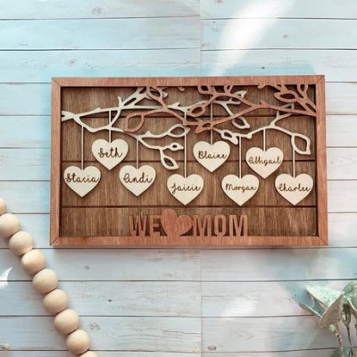 Personalized Mom Heart Piece Poster