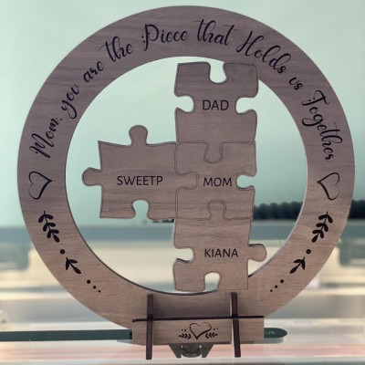 Personalized Mom Puzzle Piece Sign