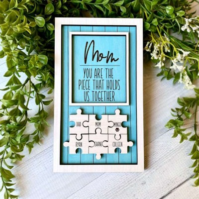 Personalized Dad Mom Puzzle Piece Poster